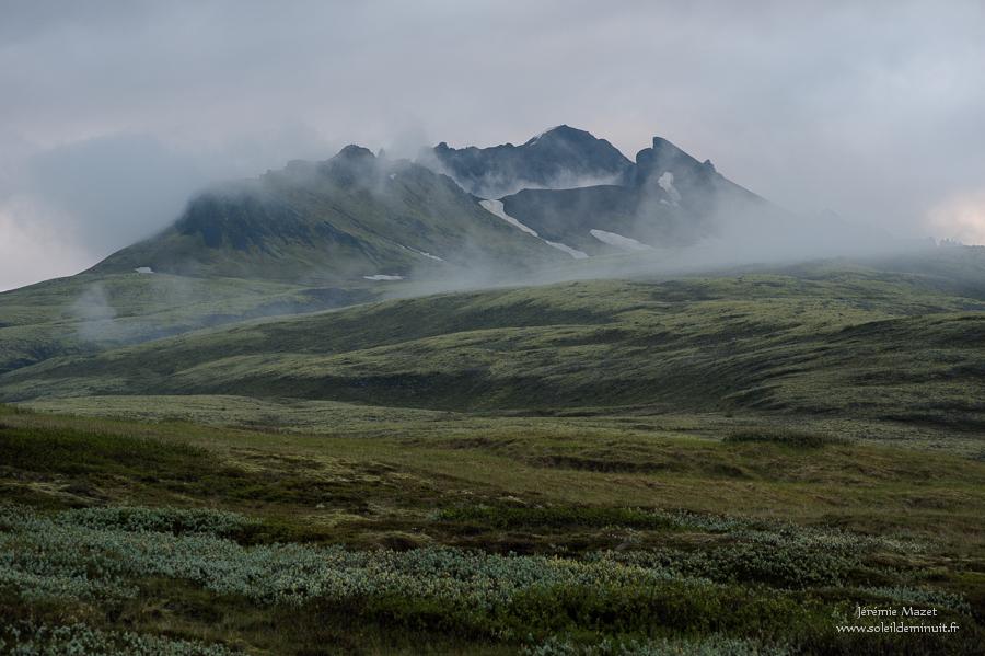 Skaftafell dans la brume