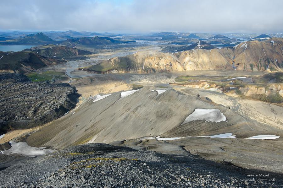 vue sur les fjallabaks en Islande