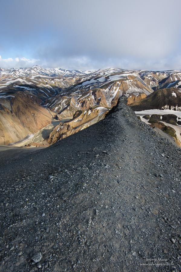 sommet de Blahnukur dans les fjallabaks en Islande