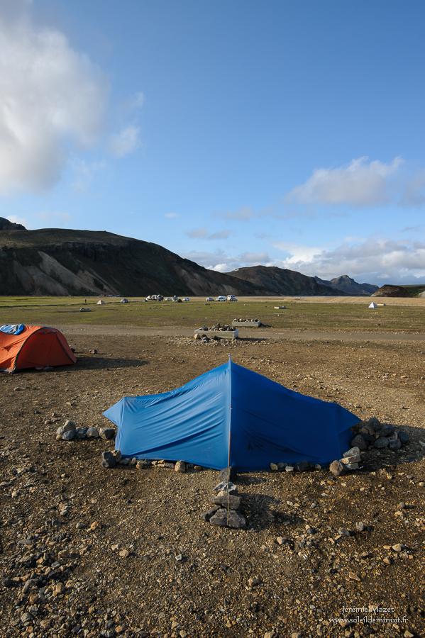 camping du Landmannalaugar en Islande