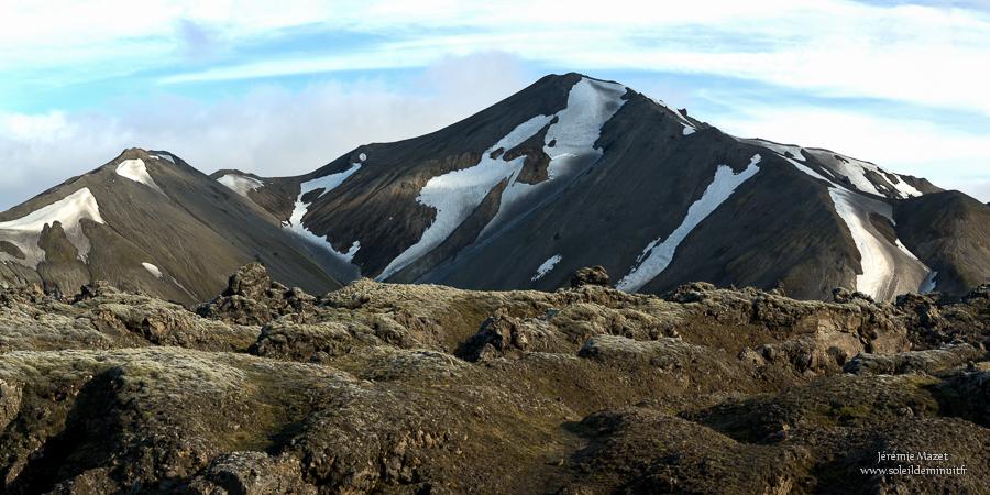 montagne Blahnukur dans le Landmannalaugar