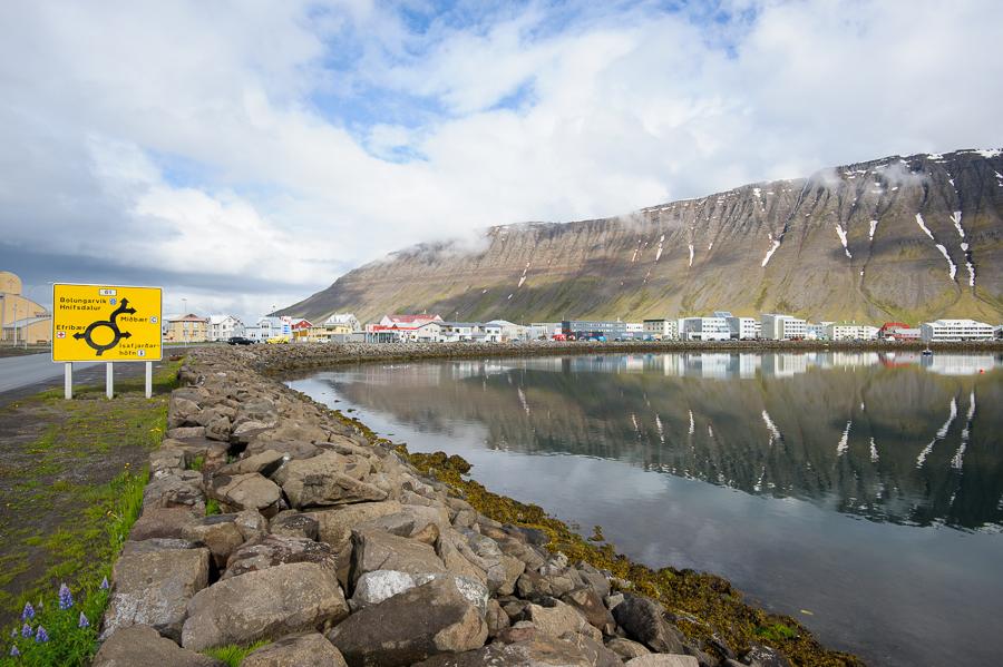 Isafjördur, village de pêcheur en Islande