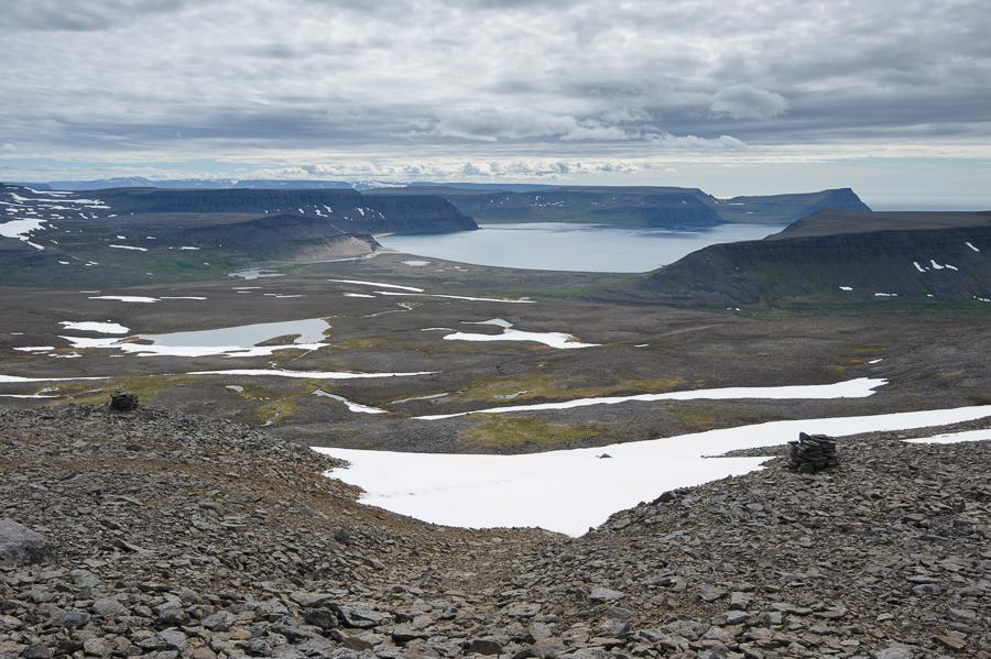 vue sur la baie de Latravik depuis Tunguheidi