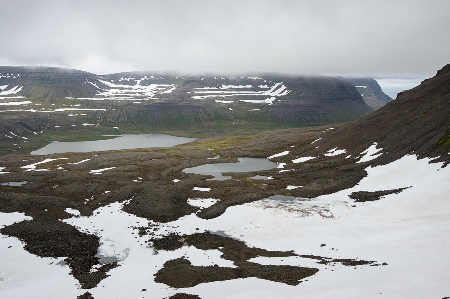 vue sur Fljotsvatn , fjords de l'ouest en Islande
