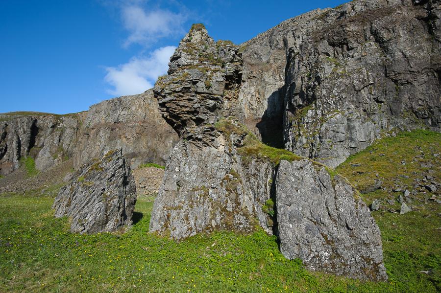 dyke volcanique en Islande