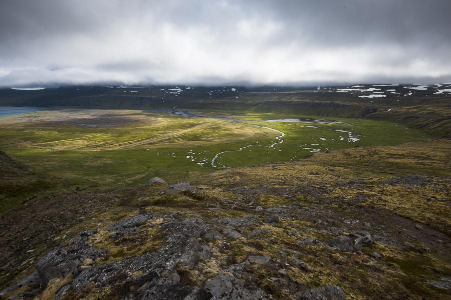 baie d'hornvik dans le Hornstrandir