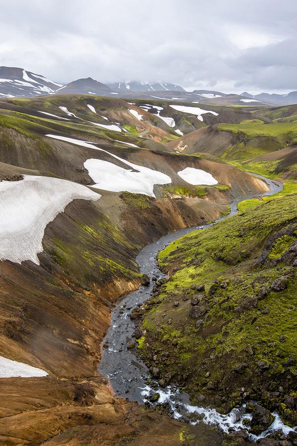 torrent glaciaire en Islande