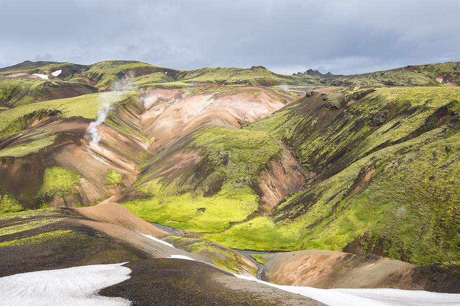 vallée géo-thermique en Islande