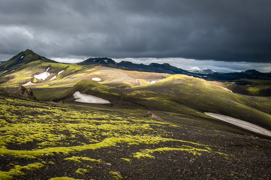 ciel orageux en Islande