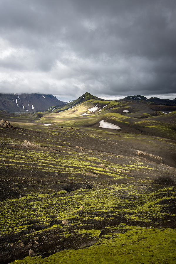 trek dans les hautes terres d'islande