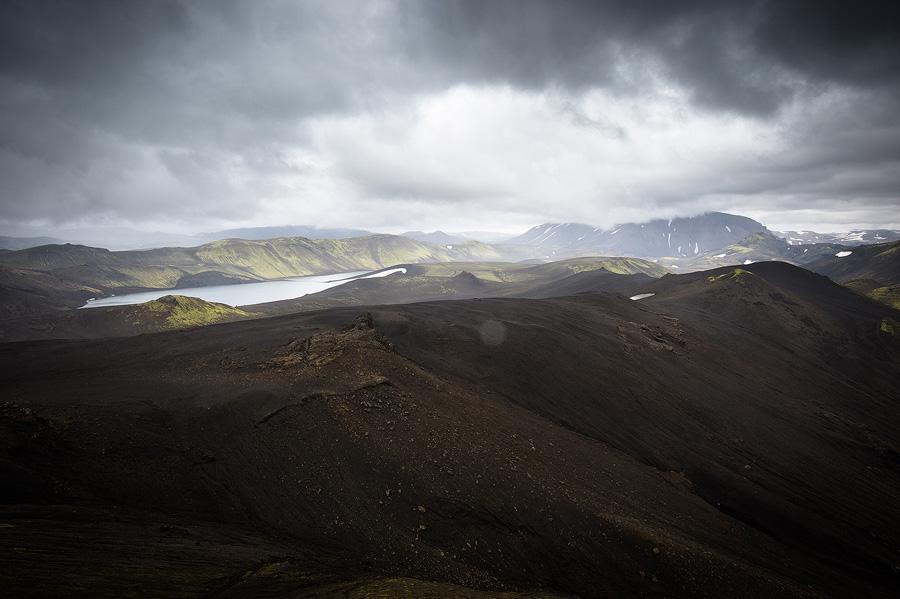 ciel orageux dans la réserve de Fjallabak