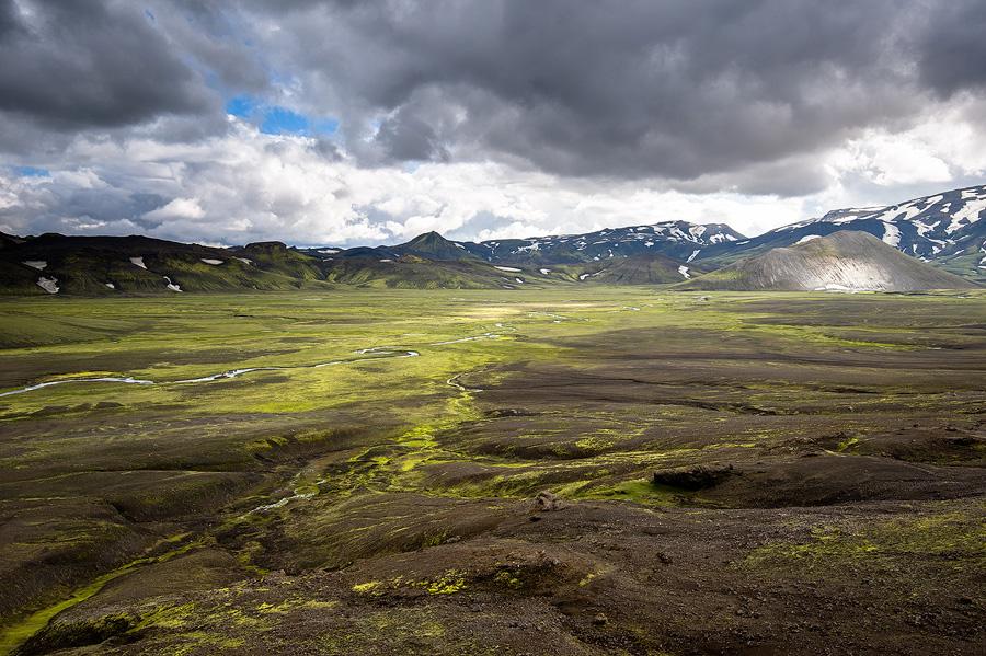 Plaine de Hungursfit , près du glacier Tindjallajökull en Islande