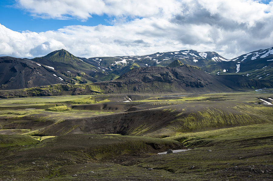 montagnes volcaniques au nord du Tindfjallajökull