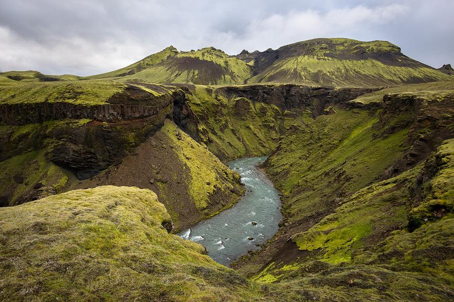 canyon de la Markarfljot en Islande