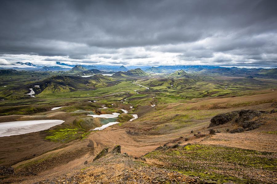 paysage grandiose sur le trek du Laugavegur