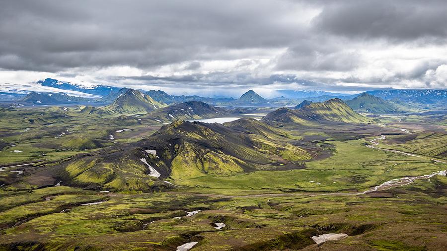 alftavatn sur le trek du laugavegur en Islande