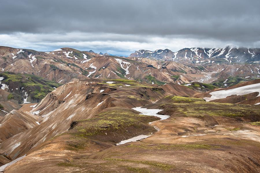 plateau volcanique dans le landmannalaugar en Islande