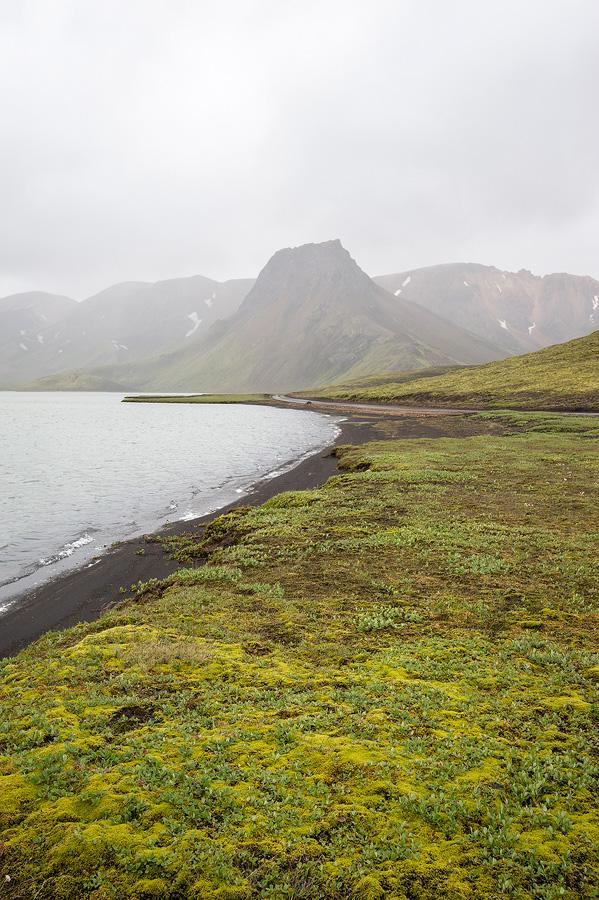 les rives du lac Kylingavatn dans les fjallabaks