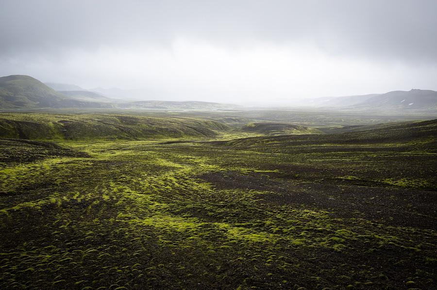 paysage dans la brume islande