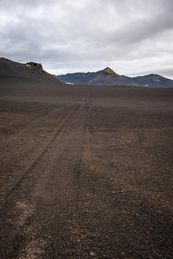 piste dans le désert en Islande
