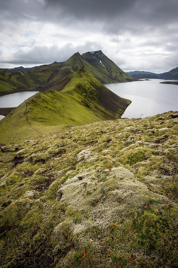 lac Langisjor avec le sommet du Sveinstindur en arrière plan