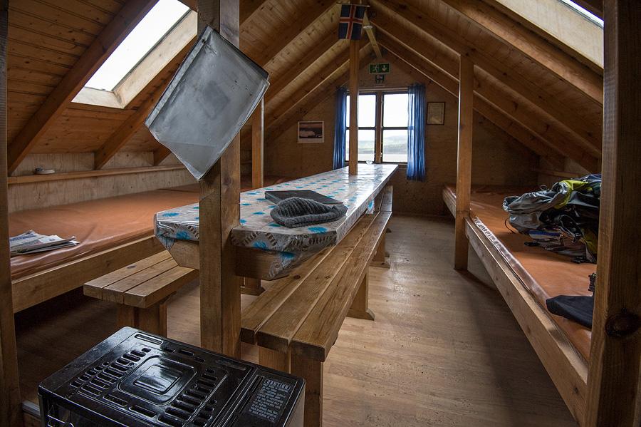 dortoir de refuge en Islande