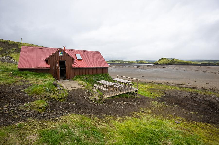 refuge de randonnée utivist de Sveinstindur le long du strutivegur