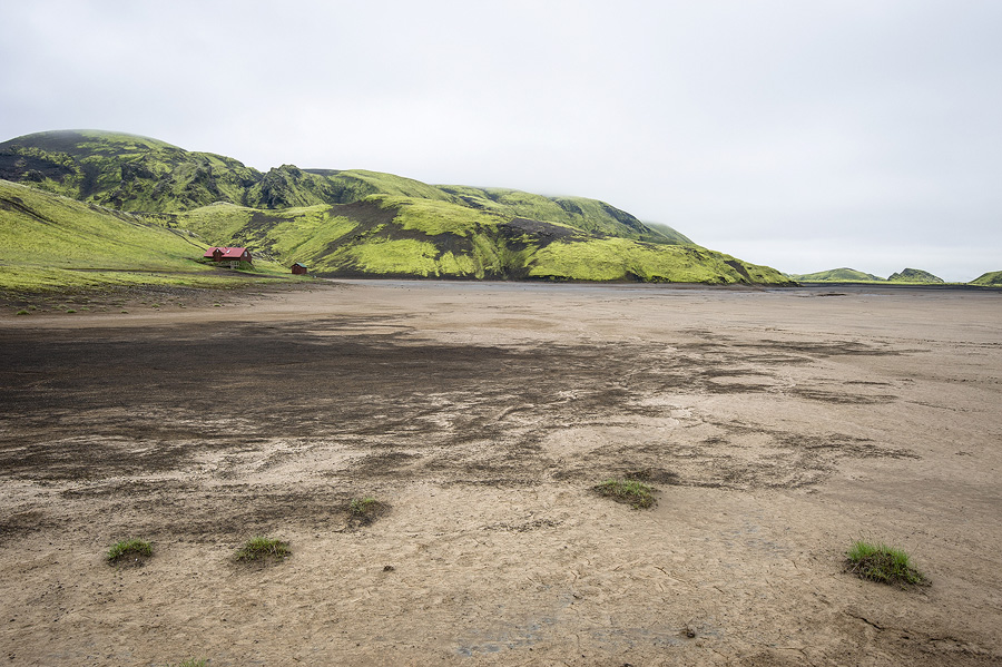 le refuge de Sveinstindur au bord de la Skafta