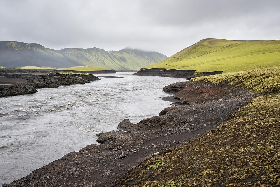la skafta sous le Vatnajökull en Islande