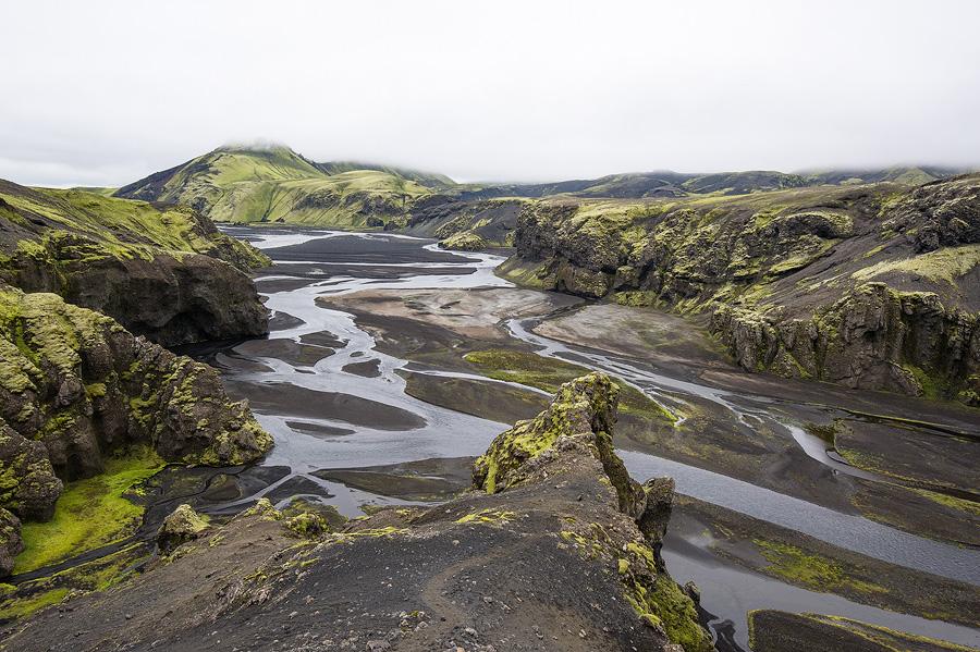 le strutivegur au bord de la skafta, trekking en Islande