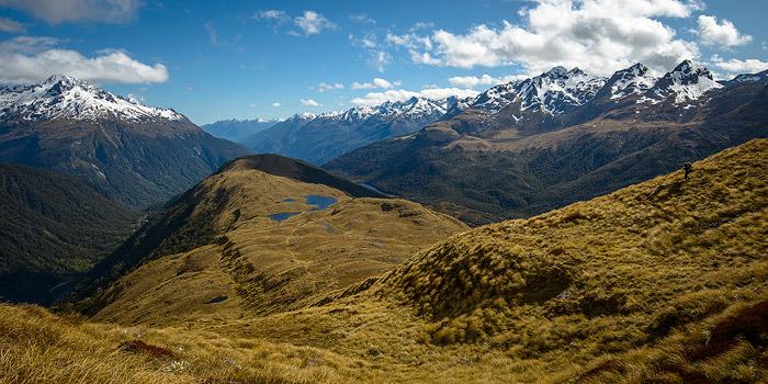 randonneur en Nouvelle-zélande dans le Fiordland