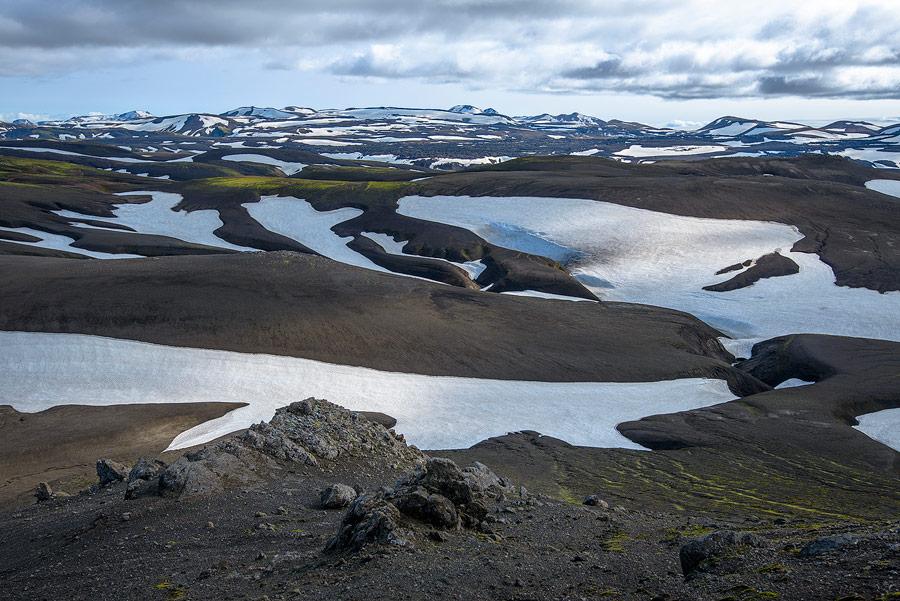 vue de la réserve de Fjallabak, en Islande