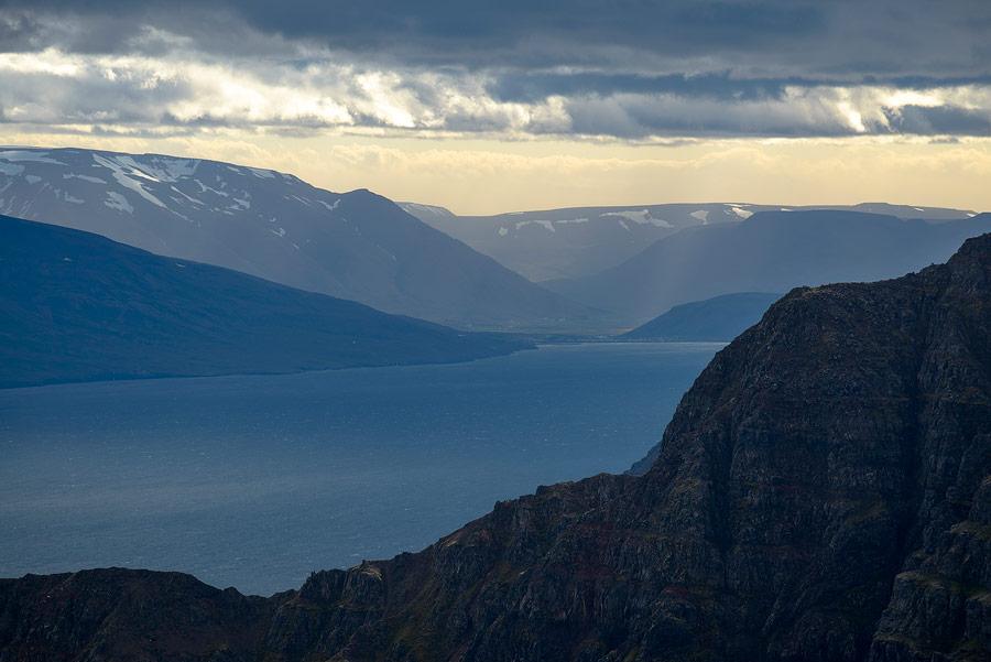 le fjord d'Olafsjördur en Islande