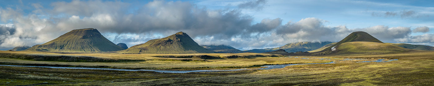 volcans autour de Landmanahellir dans la réserve de Fjallabak, en Islande