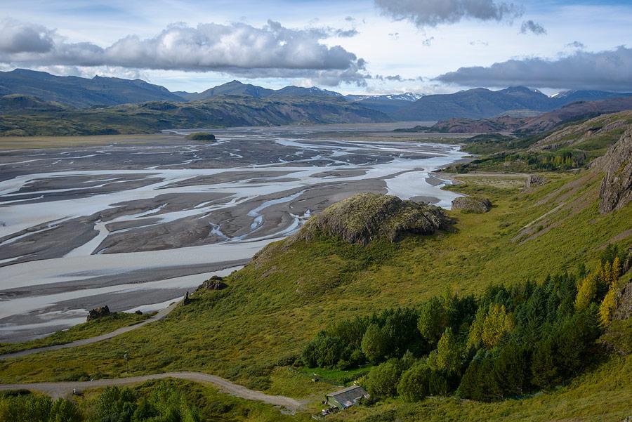 la rivière Jökulsa i Loni près de Stafafell en Islande