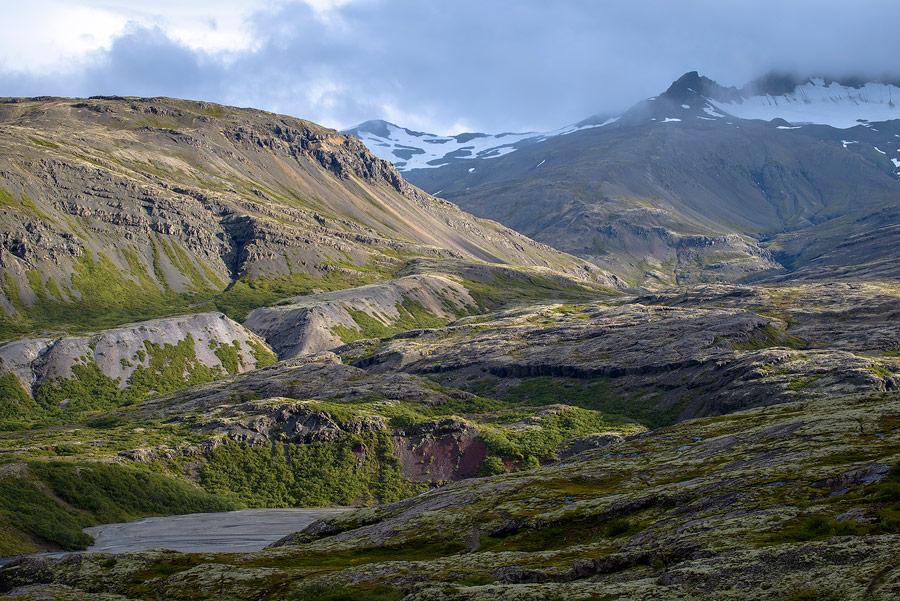 paysage de la réserve naturelle de Lónsöræfi en Islande