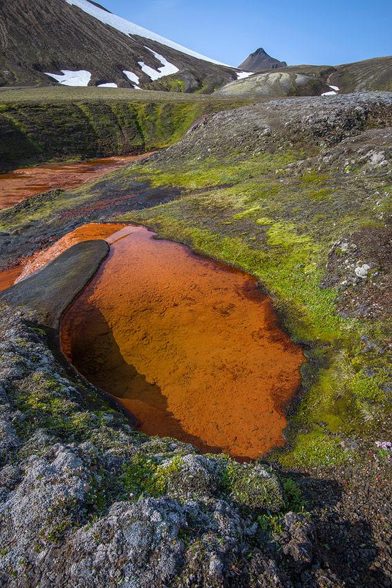 Source d'une rivière dans la réserve de Fjallabak, en Islande