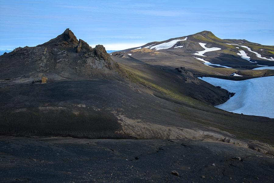 col du Svartikambur dans la réserve de Fjallabak, en Islande