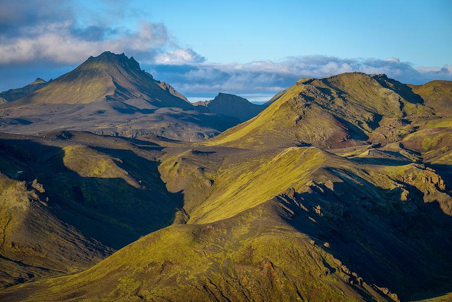 Haute-terres près de Thorsmörk, en Islande