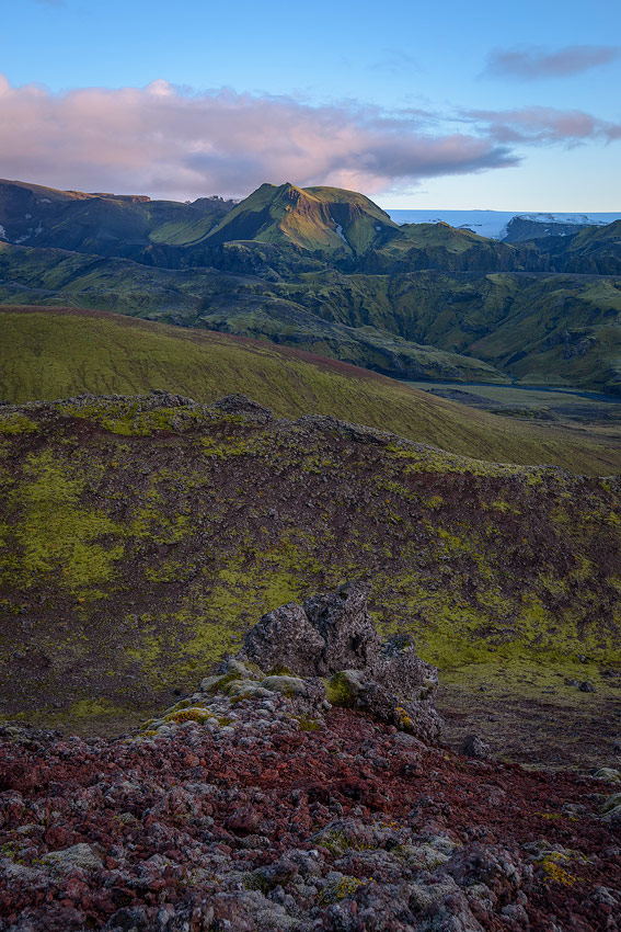 coulée de lave pres de thorsmörk en Islande