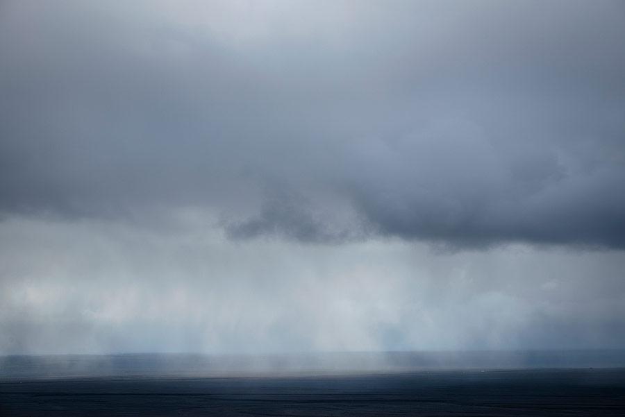 tempête en islande dans le parc national de Skaftafell au sud