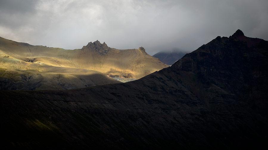 les skaftafellfjoll en Islande