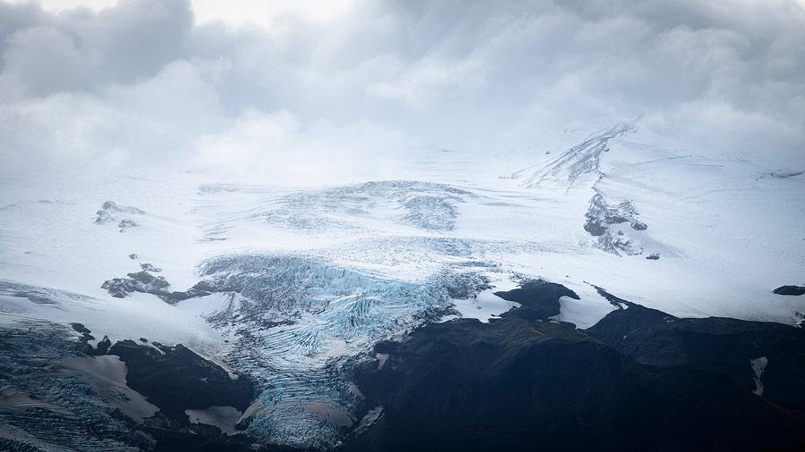 le glacier Eyjafjallajökull en Islande