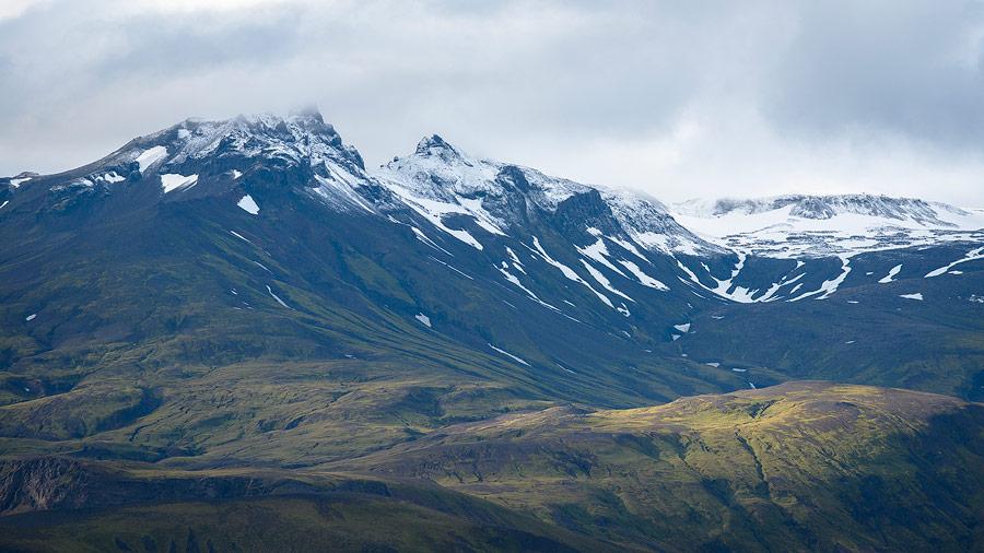 les flancs du tindfjallajökull près de Thorsmörk en Islande