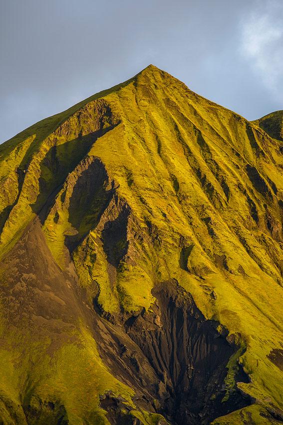 fin de journée sur Rjupnafell, Thorsmörk en Islande