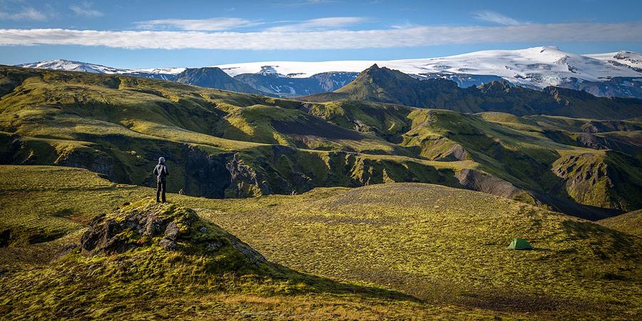 bivouac près thorsmörk en Islande