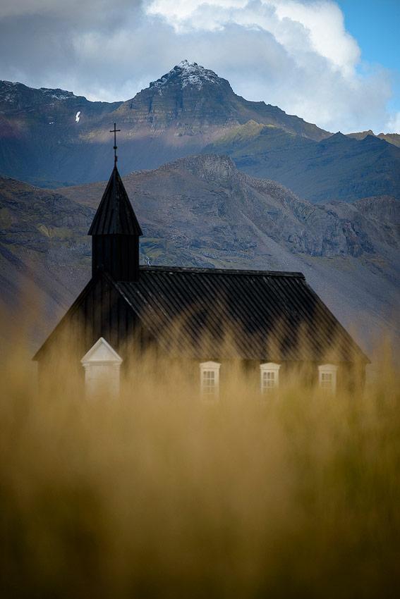 église noir de Budir, péninsule de Snaefellsnes en Islande