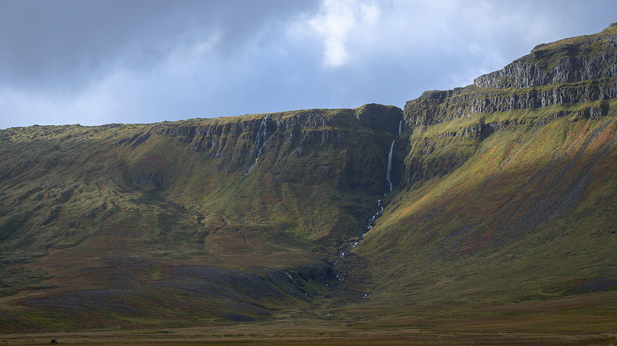 chute d'eau, Snaefellsnes en islande