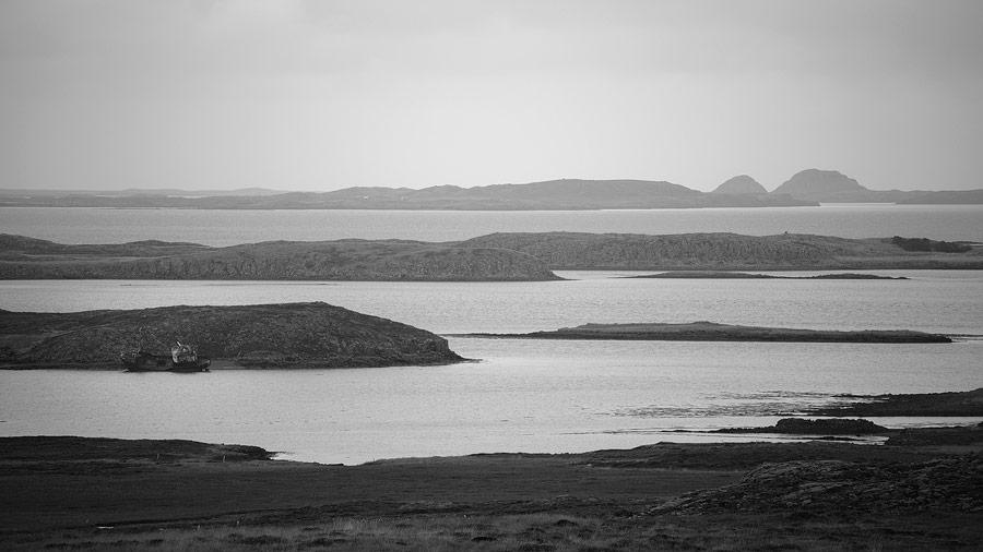 bateau échoué, péninsule de Snaefellsnes, islande
