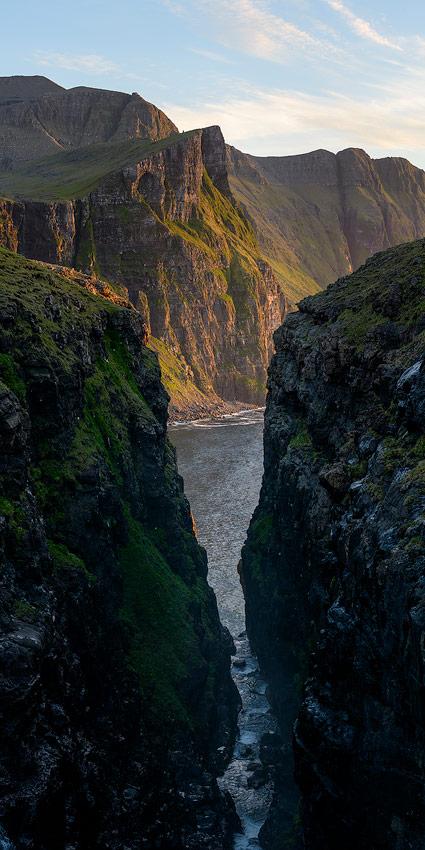 Viðvík sur la cote nord de Vagar sur les Îles féroés